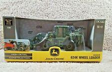 New 2008 ERTL 1:50 Scale Diecast John Deere 624K Wheel Loader Chargeur #45078