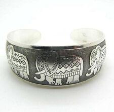 Silver Retro Turkish Festival Tribal Ethnic Statement Bracelet Boho Style Cuff