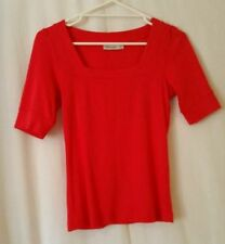 Sussan Short Sleeve Machine Washable Solid Tops for Women