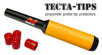 4 TECTA-TIPS tip protectors for Minelab Pro-Find 15 20 35 in MINELAB RED