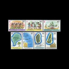 TUVALU, Sc #85-91, MNH, 1978, Map, Independence, FHIAS8Z