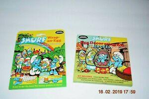 1984 Smurf Peyo Easter Egg Decorating Kit