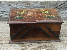 ART DECO VINTAGE PAINTED WOOD 'CANNES' JEWELLERY BOX FOR RESTORATION