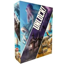 Unlock 2 Mystery Adventures Board Card Game by Space Cowboys