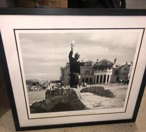 Arnold Palmer Farewell at Swilken Bridge. Autographed 24w x27h Framed