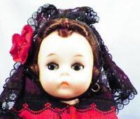 Madame Alexander Hard Plastic Doll Spanish Spain Wendy Face Bend Knee Walker