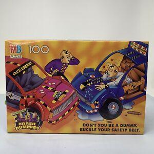 4278-2 Incredible Crash Test Dummies 100 Piece Puzzle MB 1992 Vintage Complete