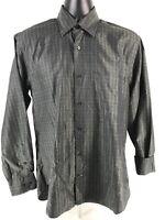 Robert Talbott Carmel Long Sleeve Casual Dress Shirt Green Window Plaid M Medium