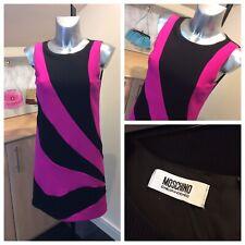 Moschino Cheap & Chic Black & Pink Shift Dress. Size 8UK. Rrp £180