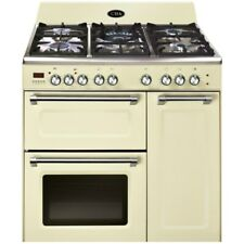 CDA RVC931CM 90cm Dual Fuel Triple Cavity Range Cooker - Cream