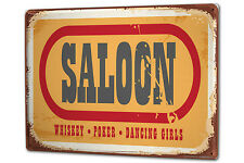 Blechschild XXL Fun Saloon