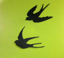 Schwalben - Rauchschwalben, Wanddekoration Schwalben, Vogel Silhouette Terrasse