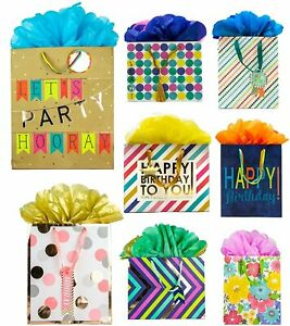 Bundle of 8 GoGo Gift Bags, Embellished All Occasion, Everyday, Happy...