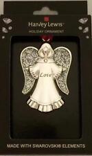 Harvey Lewis Christmas Tree Ornament Made W Swarovski ANGEL LOVE * NEW *