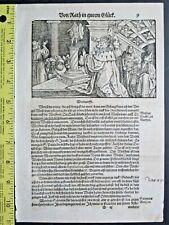 Petrarch,Trostspiegel,Pretended and true godly Wisdom,HansWeiditz,Woodcut,1584