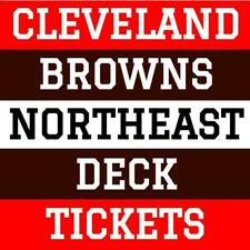 CLEVELAND BROWNS NORTHEAST DECK TICKETS ~ SUNDAY 10/31/21 vs PITTSBURGH STEELERS