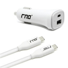 Car Charger & USB Type-C Cable For Apple,Google,HTC,LG,ChromeBook,OnePlus,& More