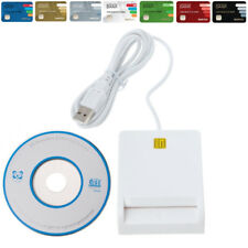 USB 2.0 Smart Card Reader Adapter EMV USB Common Access For SIM/ATM/ID White K