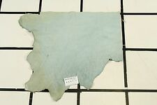 """Glacial Stream"" Light Blue Scrap Leather Hide Approx. 3.75 sqft. K8X7-7"