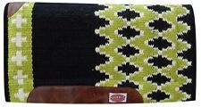 """Showman 36""""x34"""" LIME GREEN Memory Felt Bottom Cutter Style Saddle Pad! NEW TACK!"""