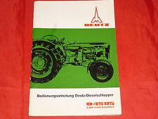 DEUTZ D 4505 Dieselschlepper Traktor Bedienungsanleitung von 1965