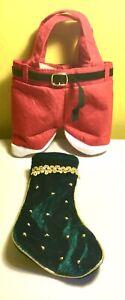 NEW Christmas decorations,velvet stockings,Santa Pants Bag,gift Wrap,xmas