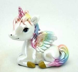 Novelty Cute Rainbow Unicorn Fantasy Figurine Statue Sculpture Figure