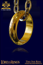 LORD OF THE RINGS - The One Ring - Unico Anello - Gold Plated Noble Collection