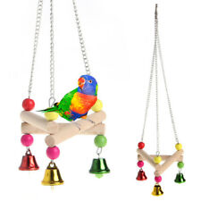 Pet Bird Parrot Toys Hanging Bell Pet Cage Triangle Hammock Swing Climbing Toy