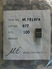 Micro Elect 18V/1A ML7818FA Regulator 7818 TO-220,10pcs