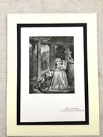 1934 Vintage French Print Declaration of Love Courting Couple Fragonard
