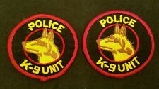 Vintage Police K9 Canine Unit Cheesecloth Patches Lot of 2 German Shepherd