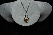 New Love Heart in a bottle necklace with silver colour chain
