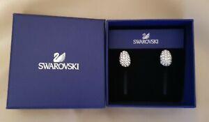 Genuine Swarovski Crystal Sparkly Large Stud Earrings Beautiful Gift In Box