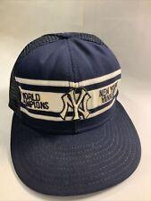 Vintage New York Yankees Snapback Hat MLB World Series Champions CLEAN