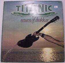 """TITANIC : RETURN OF DRAKKER Album Vinyl LP 33rpm 12"""" Insert VG+"""