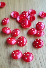 ♥ Zauberhafte Kinderknöpfe rot mit Punkten 20 Stück DM 13 mm ♥
