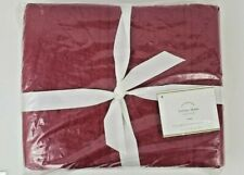 "Pottery Barn Hanna Cranberry Red Sham Euro Pillow Sham Set of 2 New 26"" x 26"""