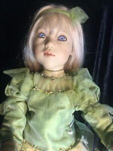 """2001 Annette Himstedt Vinyl  Himmelschusselchen 2 Dolls 10"""" And 31 1/2"""""""