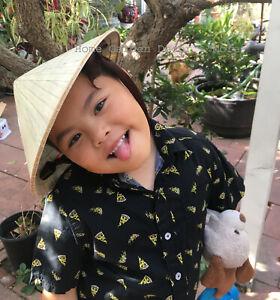 Oriental Vietnamese Chinese Asian Cone Garden Sun Bamboo Rice Hat KIDS CHILDREN