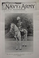 1898 BOER WAR ERA PRINT ~ FIELD-MARSHAL LORD ROBERTS MOUNTED ON VONOLEL