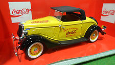 FORD Roadster cabriolet soft top COCA COLA au 1/18 SOLIDO 9502 voiture miniature