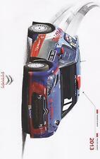 Carte postale Postcard CITROEN DS3 RRC KUBICA RALLY WRC ESPAGNE CATALOGNE 2013