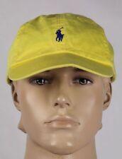 Polo Ralph Lauren Yellow Blue Pony Baseball Ball Cap Hat NWT