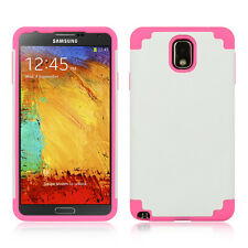 SAMSUNG N900A Galaxy Note 3 Slim Hybrid Case Cover White / Pink