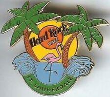 Hard Rock Cafe FORT LAUDERDALE 1999 OASIS PIN Palm Trees, Sunset & Pink Flamingo