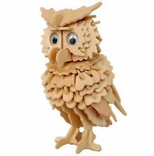 OWL DIY 3D Jigsaw Realistic Wooden Decor. Model Construction Kit Toy Puzzle Gift