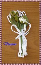 1 boutonnière bouquet fleur blanche n°2. Accessoire mariage homme.