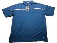 Nike Team New Mens Blue Short Sleeve Polo Shirt Size XL