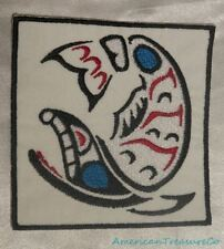 Embroidered Pacific Northwest Art Blue Eyed White Whale Patch Iron On Sew On USA